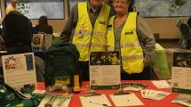 Members of CERT in front of literature table.