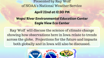 flyer with event information for climate change presentation at wapsi center