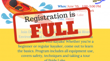 Flyer for event stating the registration is full