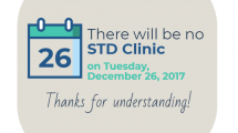 STD Clinic Closed 12-26-2017