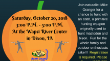 flyer with pumpkin on it and program information