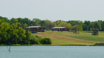 Summit Cabins overlooking Railroad Lake.