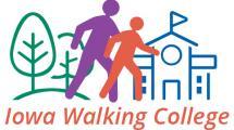 Iowa Walking College logo.