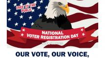 National Voter Registration day banner.