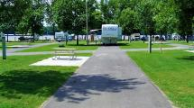 Open Campsite at Buffalo Shores Campground.