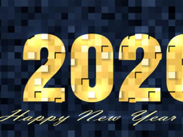 This is a picture that says Happy New Year and 2020