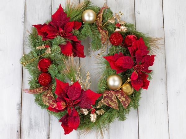 This is a picture of a holiday wreath