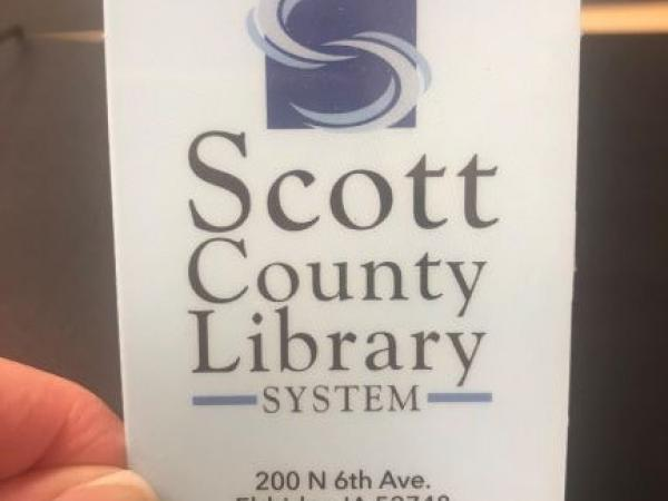 This is a picture of a library card
