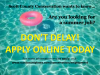 Don't delay apply online today.
