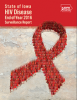 Cover of HIV report; includes red ribbon